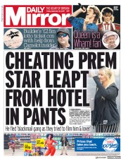 Daily Mirror (UK) Newspaper Front Page for 20 September 2019