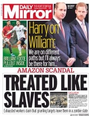 Daily Mirror (UK) Newspaper Front Page for 21 October 2019