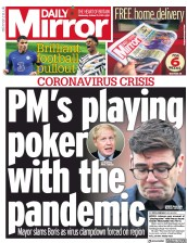 Daily Mirror front page for 21 October 2020