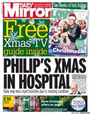 Daily Mirror () Newspaper Front Page for 21 December 2019