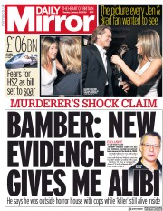 Daily Mirror (UK) Newspaper Front Page for 21 January 2020