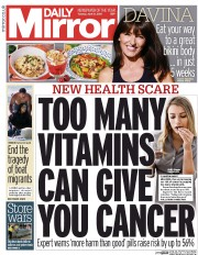 Daily Mirror (UK) Newspaper Front Page for 21 April 2015