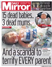 Daily Mirror (UK) Newspaper Front Page for 21 April 2017