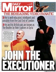 Daily Mirror (UK) Newspaper Front Page for 21 August 2014