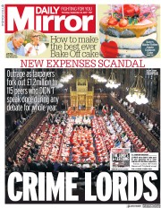 Daily Mirror (UK) Newspaper Front Page for 21 September 2017