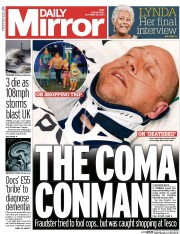 Daily Mirror (UK) Newspaper Front Page for 22 October 2014