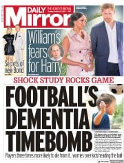 Daily Mirror (UK) Newspaper Front Page for 22 October 2019