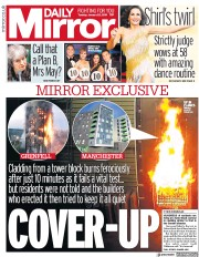 Daily Mirror (UK) Newspaper Front Page for 22 January 2019