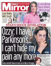 Daily Mirror (UK) Newspaper Front Page for 22 January 2020