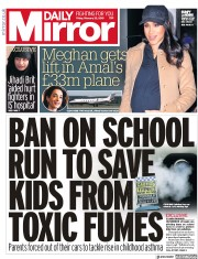 Daily Mirror (UK) Newspaper Front Page for 22 February 2019