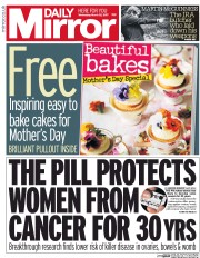 Daily Mirror (UK) Newspaper Front Page for 22 March 2017