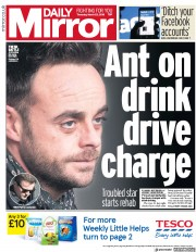 Daily Mirror (UK) Newspaper Front Page for 22 March 2018