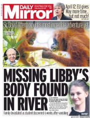 Daily Mirror () Newspaper Front Page for 22 March 2019