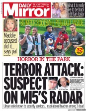 Daily Mirror front page for 22 June 2020