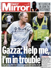 Daily Mirror (UK) Newspaper Front Page for 22 August 2014