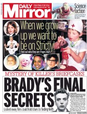 Daily Mirror (UK) Newspaper Front Page for 22 September 2017