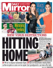 Daily Mirror front page for 22 September 2020