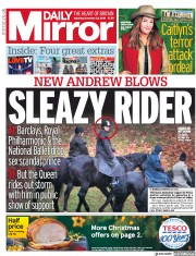 Daily Mirror (UK) Newspaper Front Page for 23 November 2019