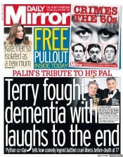 Daily Mirror () Newspaper Front Page for 23 January 2020