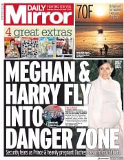 Daily Mirror () Newspaper Front Page for 23 February 2019