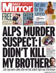 Daily Mirror (UK) Newspaper Front Page for 23 May 2015