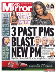 Daily Mirror (UK) Newspaper Front Page for 23 July 2019