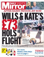 Daily Mirror (UK) Newspaper Front Page for 23 August 2019