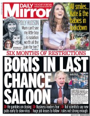 Daily Mirror front page for 23 September 2020