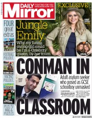Daily Mirror (UK) Newspaper Front Page for 24 November 2018