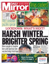 Daily Mirror front page for 24 November 2020