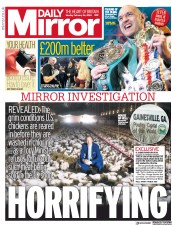 Daily Mirror (UK) Newspaper Front Page for 24 February 2020