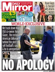 Daily Mirror front page for 24 April 2021