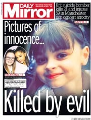 Daily Mirror (UK) Newspaper Front Page for 24 May 2017