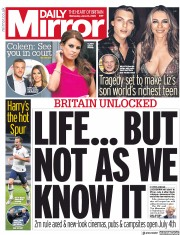 Daily Mirror front page for 24 June 2020