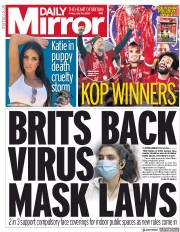 Daily Mirror (UK) Newspaper Front Page for 24 July 2020
