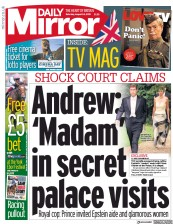 Daily Mirror (UK) Newspaper Front Page for 24 August 2019