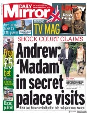 Daily Mirror () Newspaper Front Page for 24 August 2019