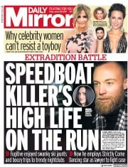 Daily Mirror (UK) Newspaper Front Page for 25 January 2019