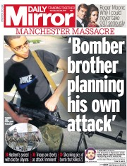 Daily Mirror (UK) Newspaper Front Page for 25 May 2017