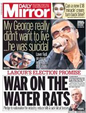 Daily Mirror (UK) Newspaper Front Page for 25 September 2018