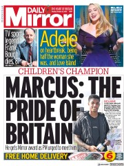 Daily Mirror front page for 26 October 2020