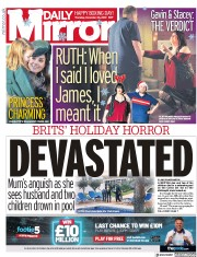 Daily Mirror () Newspaper Front Page for 26 December 2019