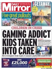 Daily Mirror (UK) Newspaper Front Page for 26 January 2019