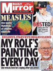 Daily Mirror () Newspaper Front Page for 26 April 2013