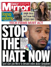 Daily Mirror front page for 26 April 2021