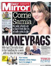 Daily Mirror (UK) Newspaper Front Page for 26 May 2018