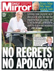 Daily Mirror front page for 26 May 2020
