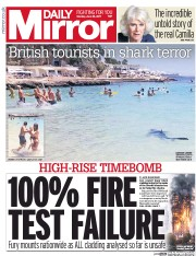 Daily Mirror (UK) Newspaper Front Page for 26 June 2017