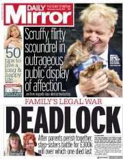 Daily Mirror (UK) Newspaper Front Page for 26 June 2019