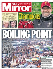 Daily Mirror front page for 26 June 2020